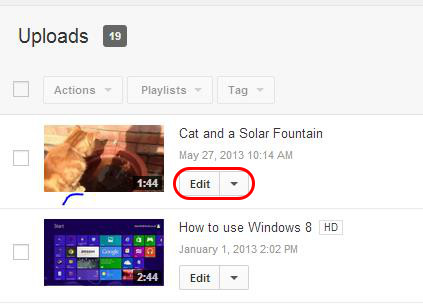 How to rotate a video to landscape after being uploaded to youtube step two ccuart Image collections