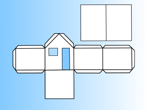 A plan of a model house